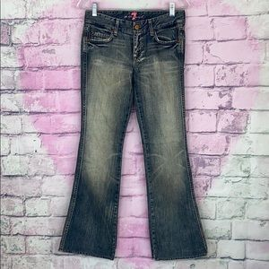 7 for all mankind flare leg jeans 26